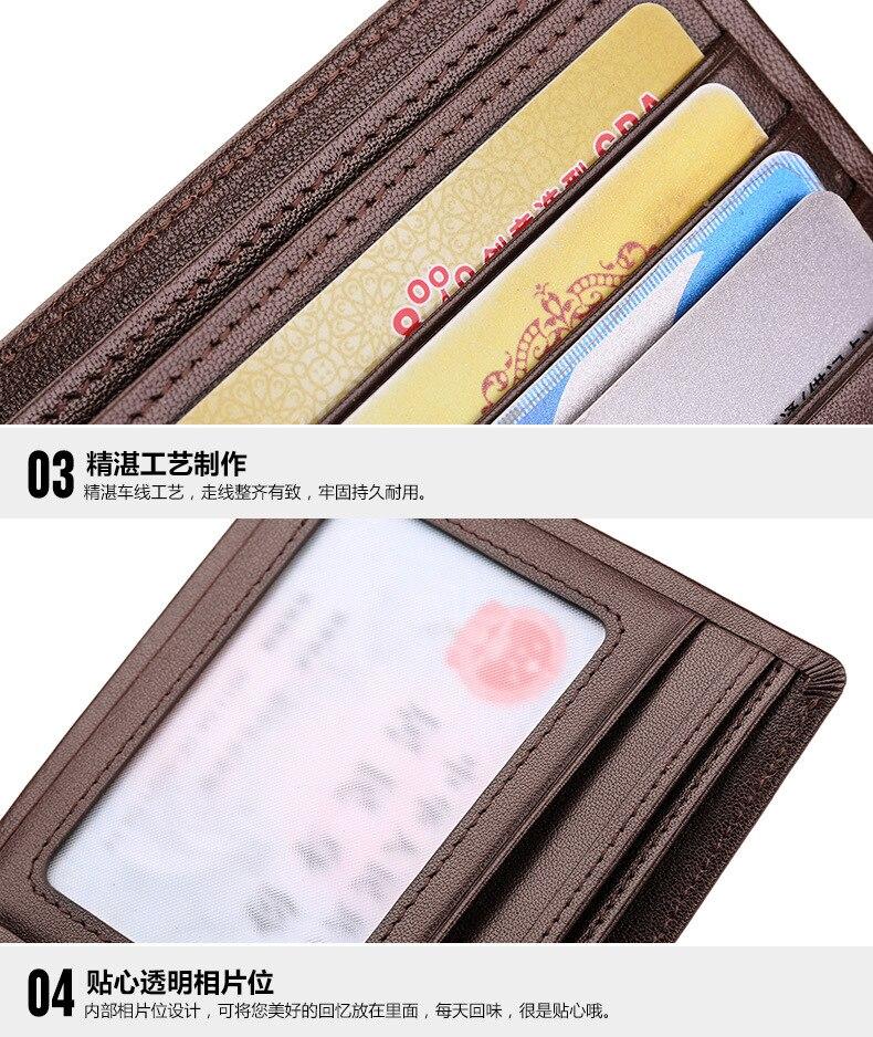 couro genuíno seção transversal carteira de couro