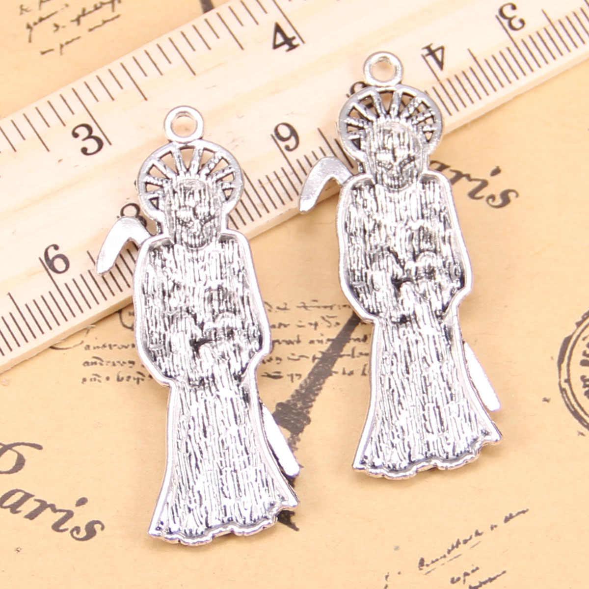 3pcs Charms For Jewelry Making grim reaper death 51x19mm Antique Silver Plated Pendants DIY Tibetan Silver Bracelet Necklace