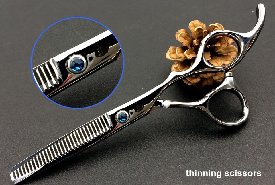 Smith chu 6.0 inch Profesional Hairdressing Gunting menetapkan 62HRC - Penjagaan rambut dan penggayaan - Foto 4