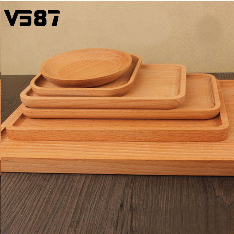 Japanese Style Wooden Plates Tray Wood Dishes For Sushi