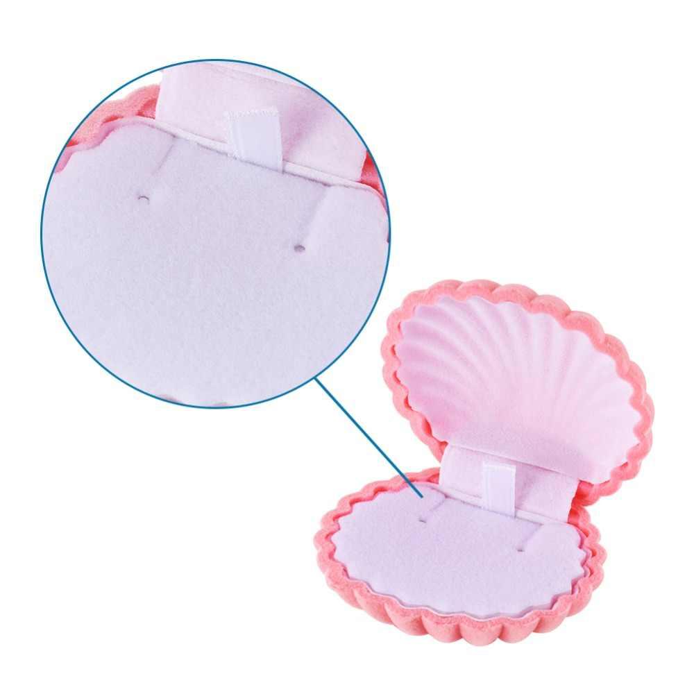 Pandahall 1 pc ורוד קטיפה פגז תכשיטי מתנות קופסות שרשרת צמידי צמידי קרסול טבעת אביזרי אחסון תיבה, גודל: 5.3x5.85x2.9 cm