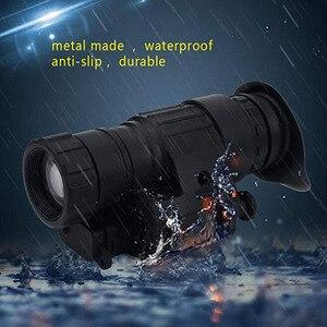 Image 5 - Tactical dispositivo de visão noturna infravermelha iluminação ir embutido caça riflescope monocular para fotografar, PVS 14 day night viewer