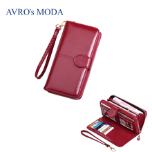 AVRO's MODA Brand PU leather long wallets for women 2019 ladies hot sale zipper purse strap money bags coin phone pocket clutch