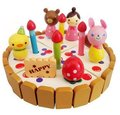 candice guo wooden toy snowman mini emulational birthday cake set cut toy colorful children play house game gift