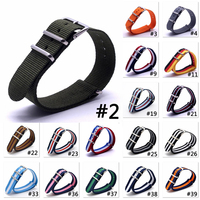 100pcs Hot Activity Top Quality 16mm 18mm 20mm 22mm 24mm Navy White Black Blue Colorful NATO Waterproof Nylon Strap Watch Band