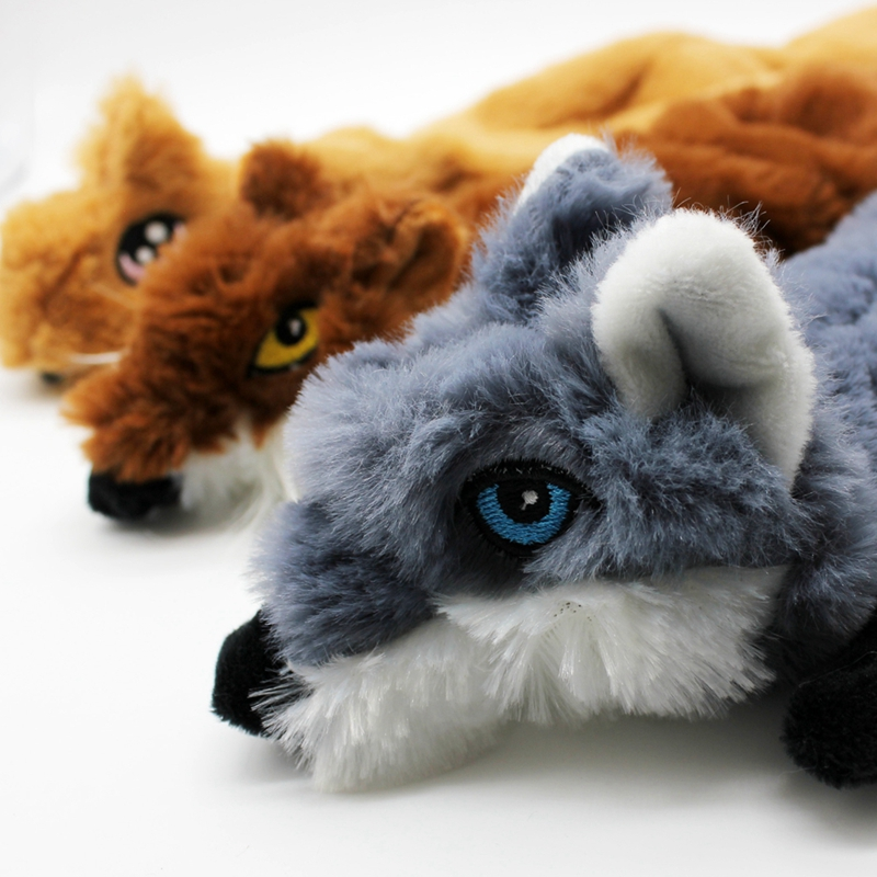 Cute Plush Toys Squeak For Dogs Chew Squeaker Pet Squeaky Animal Shaped Toy Squirrel  Dog Cat Toy Pet Supplies 10
