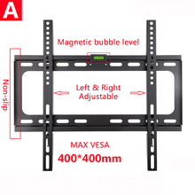 Universal Fixed TV Wall Mount Bracket  Flat Panel Ultra Slim Frame for LCD LED Monitor