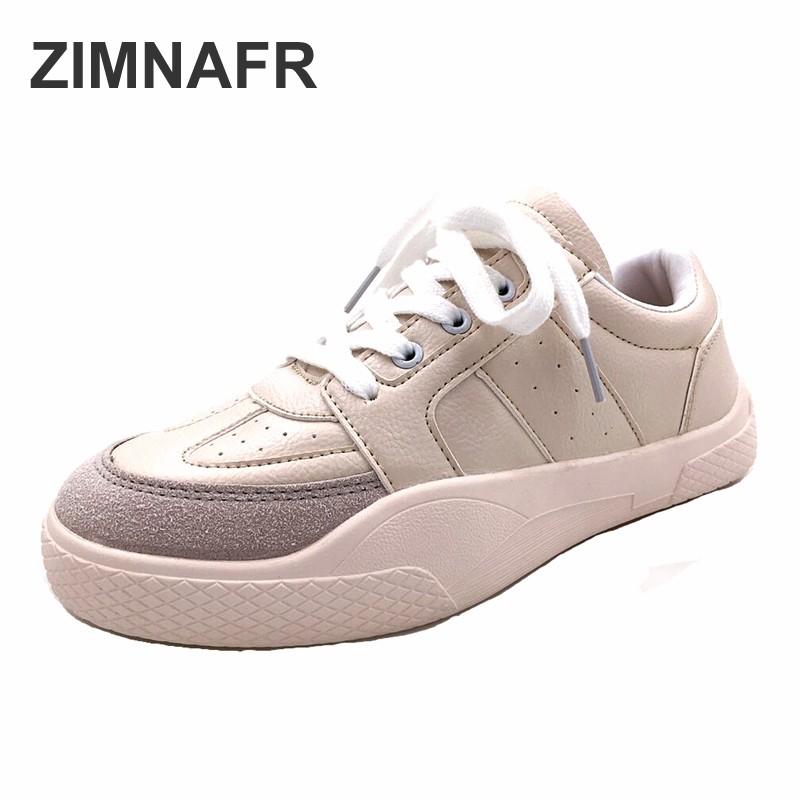 Taille Nouvelles Plat De 37 Whitecaualshoes 2018 Zimnafr Femmes Marque Lace 40 Mode Sping Chaussures Up Casual 1ccUqRPw7