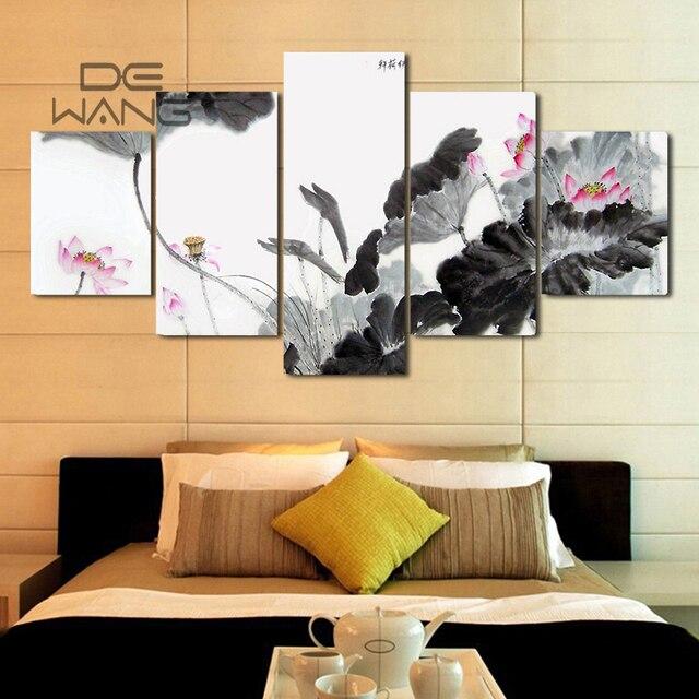 Us 1982 China 5 Stück Leinwand Kunst Wand Bilder Malen Nach Zahlen Poster Und Drucke Färbung Durch Zahlen Leinwand ölgemälde In China 5 Stück