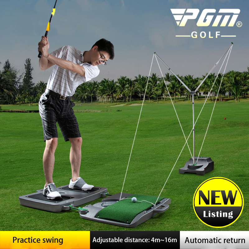 Patented PGM Coach Recommendation Golf Club Unisex Swing Training Adjustable Distance: 4m~16m Automatic Ball Return