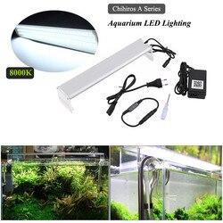 Oświetlenie LED do akwarium | Zbiornik wody rybnej roślina rosnąca lampka LED inteligentne oświetlenie timing Controler akcesoria do akwarium