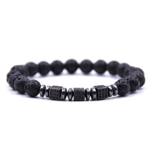 KANGKANG 2018 New Fashion stone 8mm Bead Charm Bracelet Men Jewelry Micro-inlay Zirconia Black square Bracelet For Men Gift ботинки для девочки keddo цвет черный 588127 20 05 размер 37
