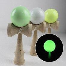 発光けん玉18センチメートル木製熟練ジャグリングボールおもちゃ伝統的な両立ゲームボールアウトドアスポーツ大人のクリスマスギフト