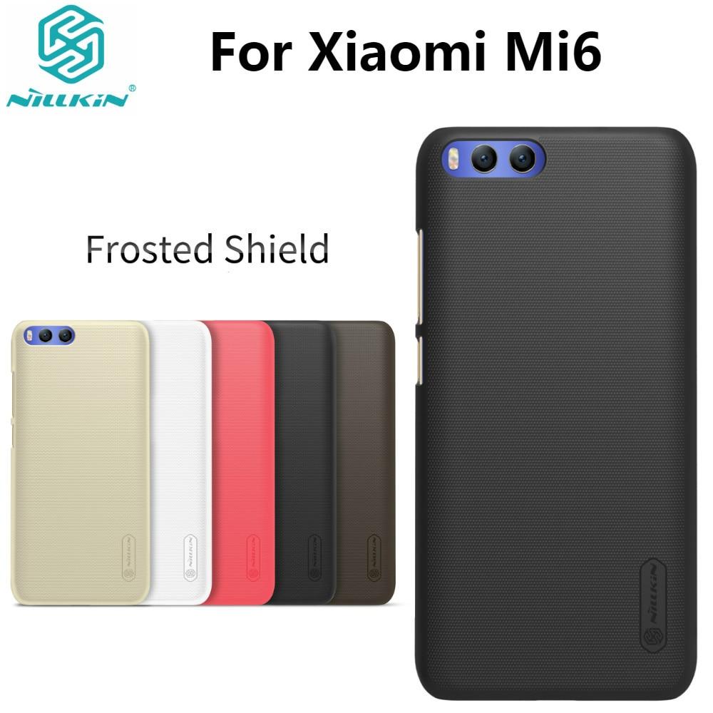 Xiao mi 6 caso Xiao mi 6 caso NILLKIN Super escudo helado de plástico duro mate con cubierta regalo Protector de pantalla 5,15''