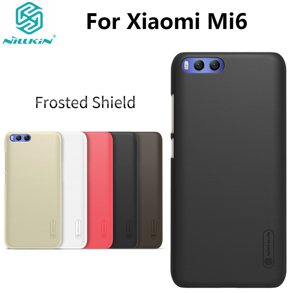 Xiaomi Mi6 Väska Xiaomi Mi 6 5.15''Case NILLKIN Super Frosted Shield Hard Plastic Mat Cover Back with Retail packaging