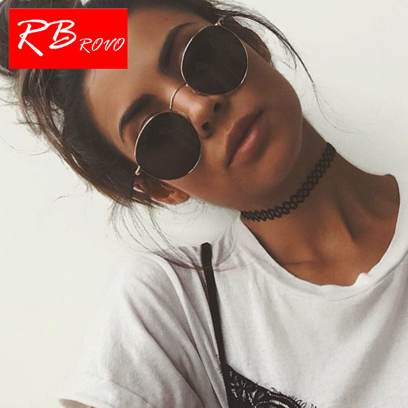 RBROVO 2019 Vintage Oval Classic Sunglasses Women/Men Eyeglasses Mirror UV400