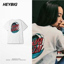HEYBIG hiphop Luxury tops Street hot Summer Sea Tide Printed TEE for MEN AND WOMEN Pattern Couple COTTON T-shirts Unique Design