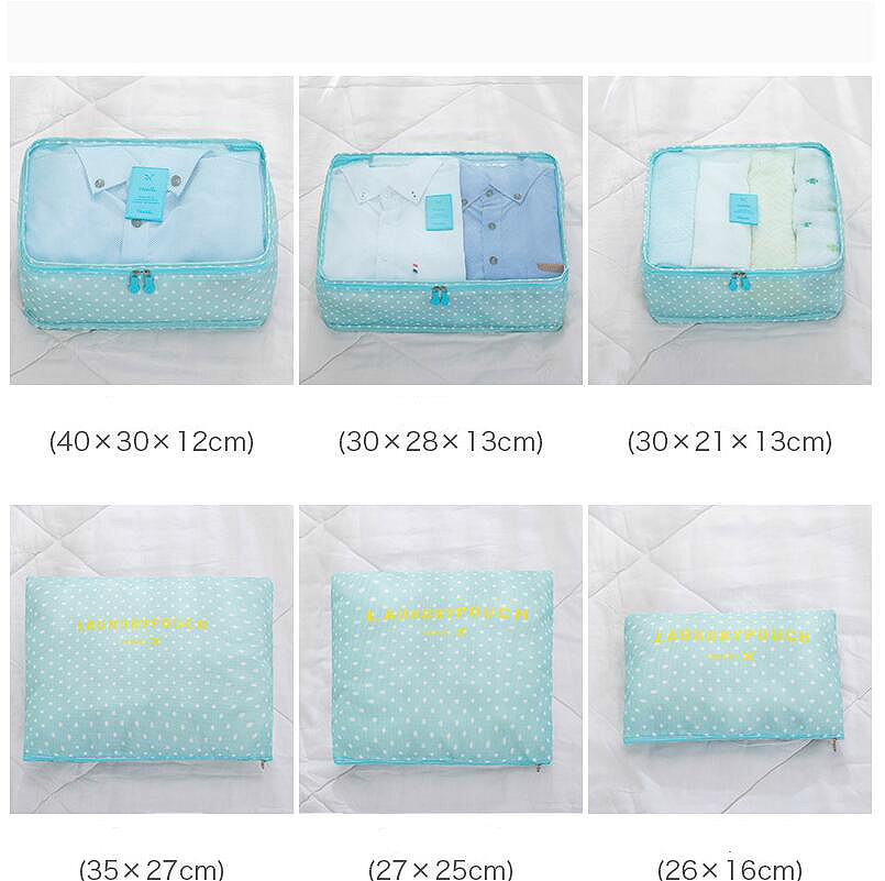 Image 5 - 6PCS Korean Style Travel Portable Houseware Collection Storage Bag Clothes Underwear Finishing Bags Bed Stprage Underbed Nylon-in Foldable Storage Bags from Home & Garden