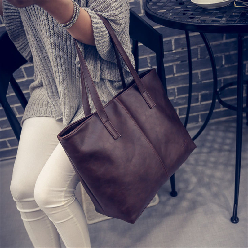Women Messenger Bags Leather Casual Handbags Female Designer Bag Vintage Big Size Tote Shoulder Bag High Quality 2018 New Style nokotion for samsung np305e4a 305e5a 305e7a laptop motherboard socket fs1 hd6470m ba92 08197a ba92 08197b ba41 01818a