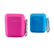 Earbuds protector bluetooth earphone case patented full protective shockproof Rohs silicone cover for Apple AirPods charge box