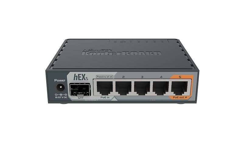 MikroTik RB760iGS hEX S routeur Gigabit Ethernet avec 1 Port xSFP 5x10/100/1000 Mbps