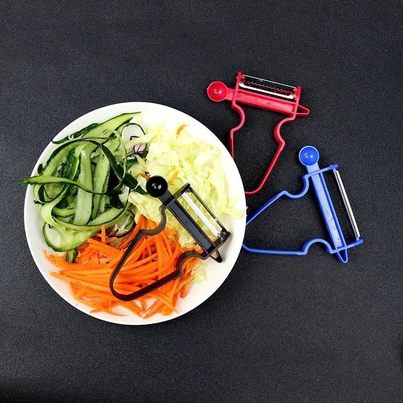 3pcs Slicer Shredder Peeler Julienne Cutter Multi Peel Kitchen Tools Trio Peeler