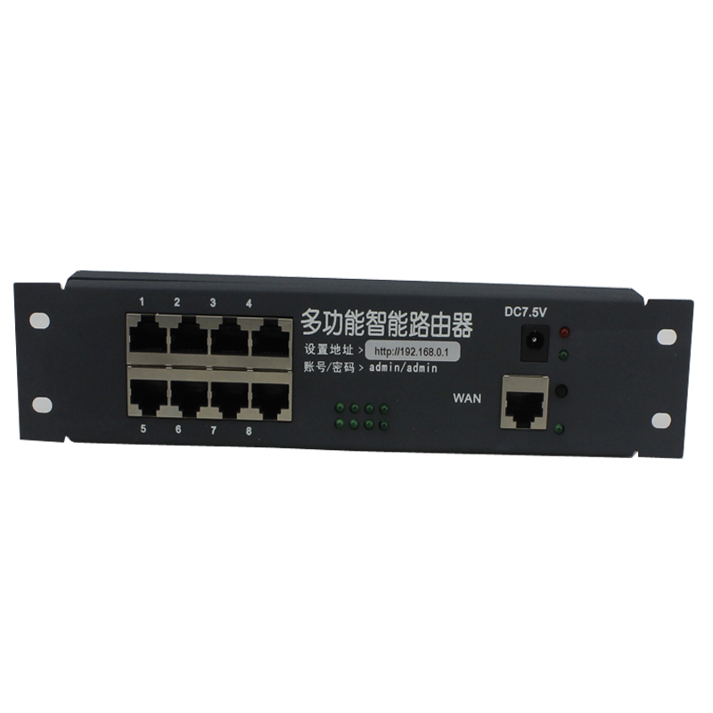 intelligent metal case wired distribution box 8 port router modules OEM wired router 192 168 0