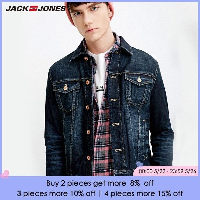 JackJones Xuân Hè nam Mới Rửa Sạch Xong Denim Áo Khoác Nỉ | 218157504