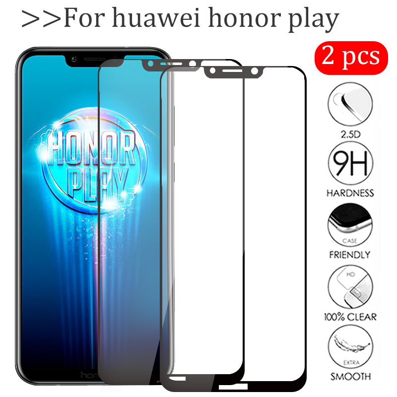 2pcs/lot On Honor Play Glass For Huawei Honor Play 6.3 COR L29 Tempered Glas Hauwei Hono Play Protective Film Screen Protector-in Phone Screen Protectors from Cellphones & Telecommunications