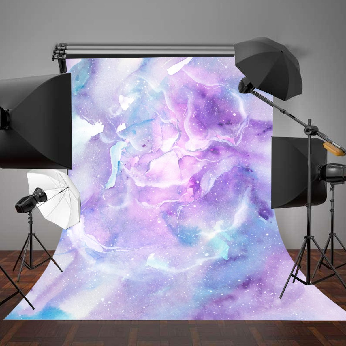 Purple Watercolor Sky Clouds Marble Texture background polyester or Vinyl cloth High quality Computer print wall backdrop
