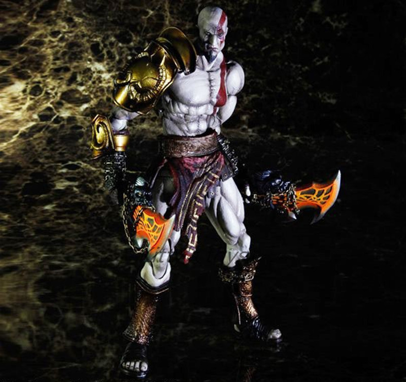 Play Arts Kai GOD OF WAR 3 Kratos Ghost of Sparta PA 28cm PVC Action Figure Doll Toys Kids Gift Brinquedos Free shipping KB0329 god of war statue kratos ye bust kratos war cyclops scene avatar bloody scenes of melee full length portrait model toy wu843