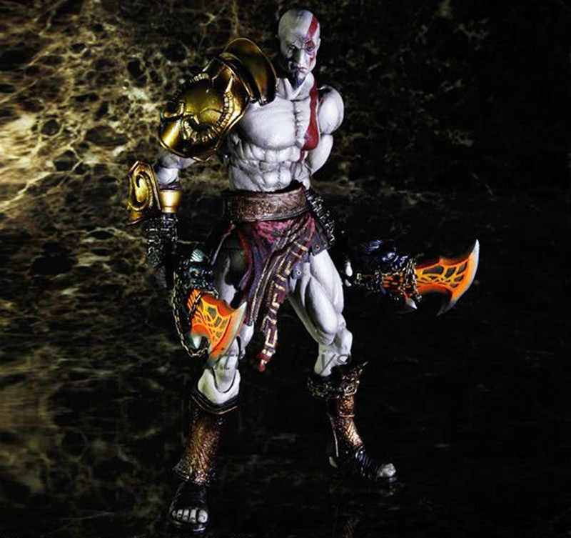 Play Arts Kai God Of War 3 Kratos Ghost Of Sparta Pa 28cm Pvc Action Figure Doll Toys Kids Gift Brinquedos Free Shipping Kb0329
