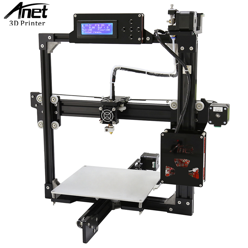 ANET A2 3D Printer Full Metal Frame Easy Assembly High Precision 3D Printer LCD Screen HotBed SD Card More Stable than Prusa i3 anet a6 3d printer upgraded high precision 3d printer prusa i3 3d printer easy assembly diy filament kit 16gb sd card lcd screen