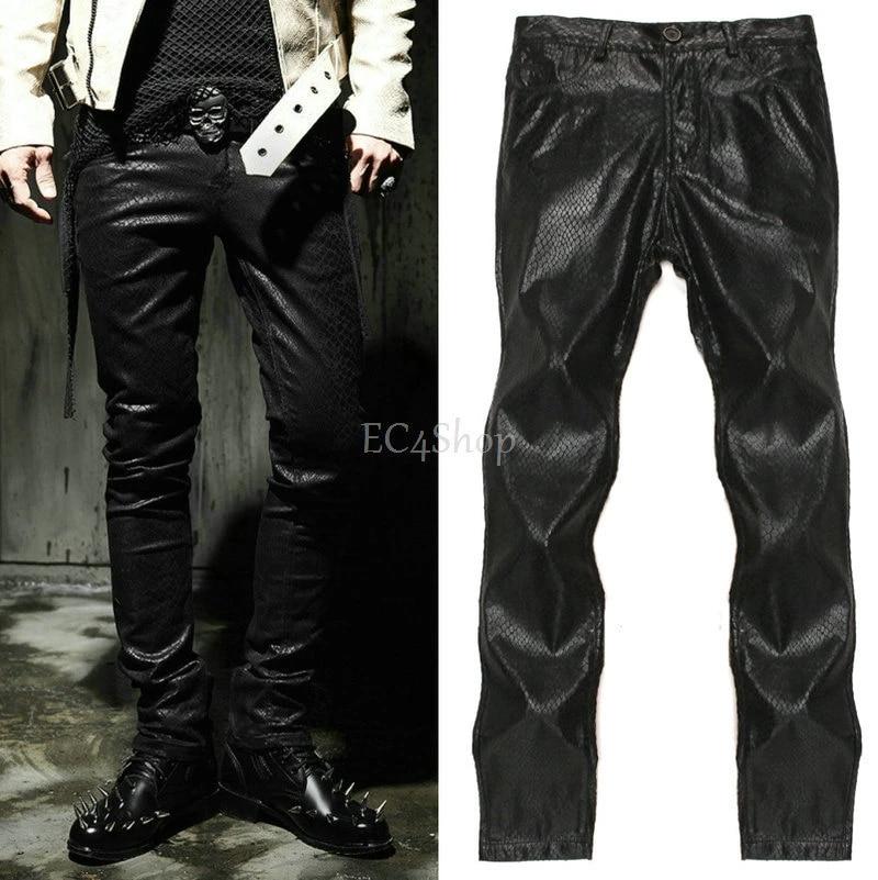 Nwt Hombre Punk Moto Biker Gothic Serpiente Cobra Patron De Impresion Pantalones Cigarette Jeans Goth Emo Rock Negro Pantalon Ajustado Jeans Mini Trouser Suitstrousers Skirt Aliexpress