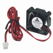 цена на 2pcs/lot 30mm 12V 30*30*10mm 2Pin Small MINI DC Brushless Cooling Fan for 3D Printer Ball-bearing