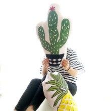 Cactus Pineapple Shape Cushion Lumbar Pillow Home Sofa Decoration Plant Pillow
