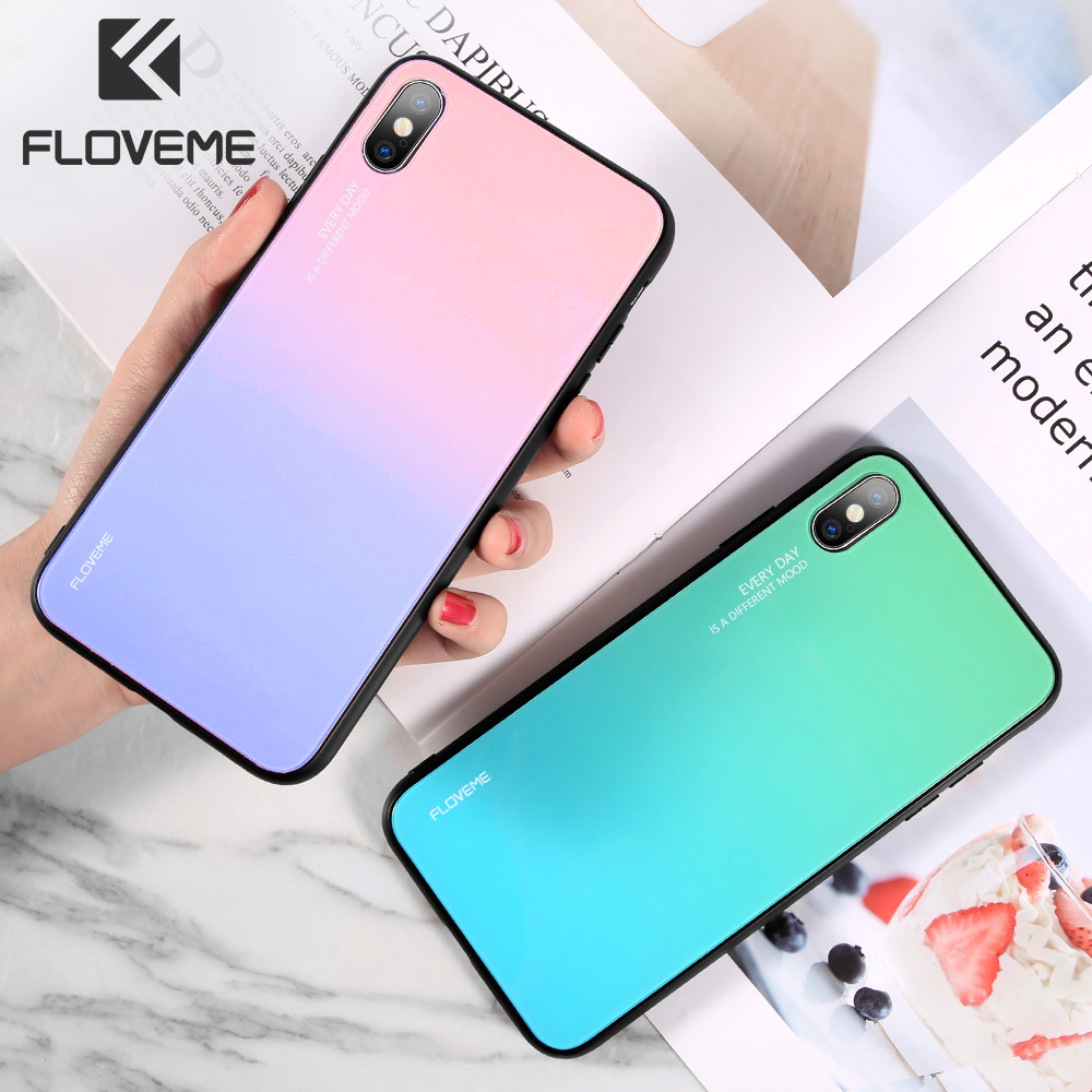 FLOVEME Tempered-Glass-Case A50 Gradient Note 8 S9-Plus Silicone Samsung Galaxy S10E