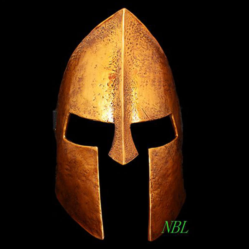 Halloween Spartan Full Face Resin Masks 300 Warriors Fighter Game Golden Helmet Mask Masquerade Party Cosplay Props Adults Size