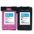 2Pk Для HP 121 Картридж для HP Deskjet F4283 F4583 F2423 F2483 F2493 F4275 D1660 D2560 Принтер Картридж Для HP 121 D2500 HP121
