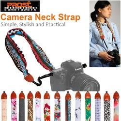 Универсальная регулируемая DSLR камера плечевой шейный ремень Ткань цветочный шарф для CANON NIKON SONY Fujifilm Leica Pentax Olympus