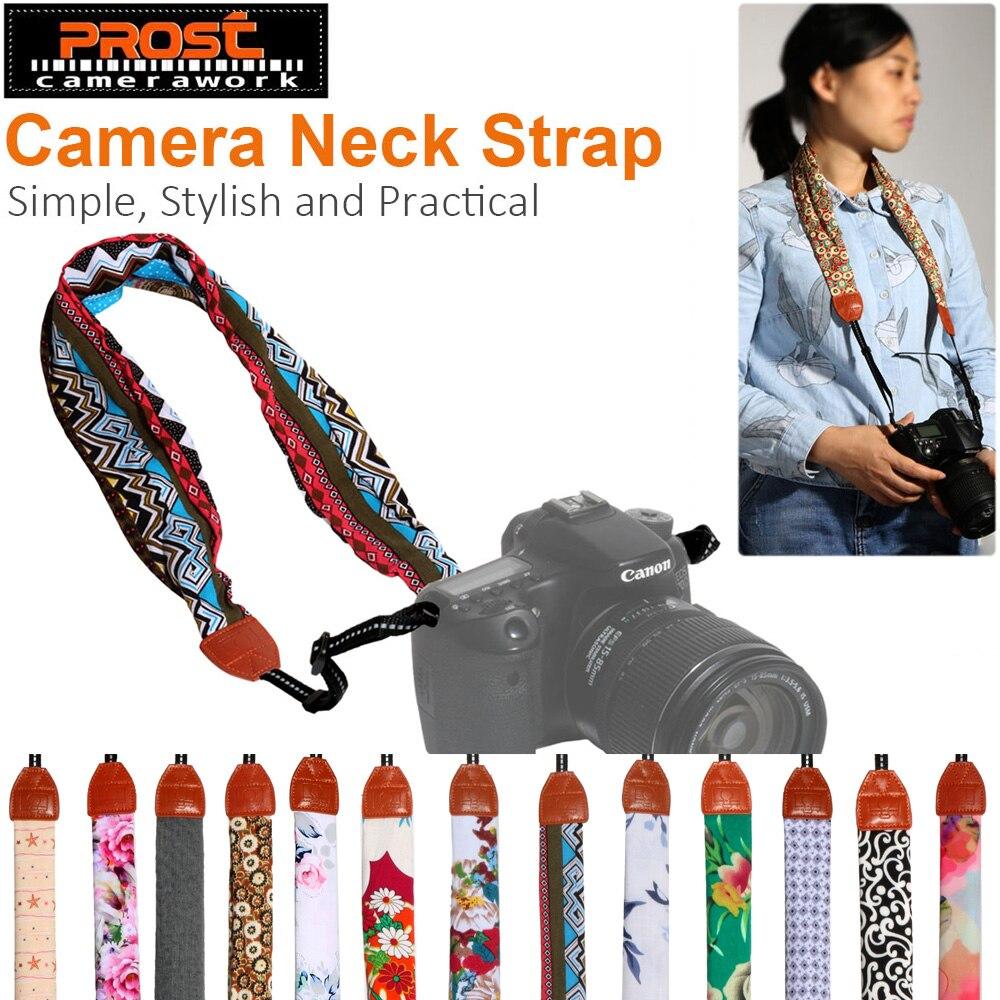 Universal ajustable DSLR Cámara hombro cuello Correa tela de bufanda Floral para CANON NIKON SONY Fujifilm Leica Pentax Olympus