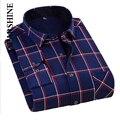 Inverno Quente Grossa dos homens Algodão Casual Camisas Xadrez Moda Camisa do Desgaste Espessamento Vestido de Manga Comprida Pure Shirt Venda Quente