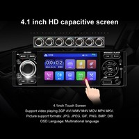 4.1 inch touch screen MP5 car player Bluetooth hands free support reversing priority mobile phone with the screen
