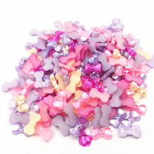 Cameo Cabochon Decoration Tiny Cute Bowknot Acrylic Flat Back Fashion Jewelry DIY Findings Mixed 14mm 100Pcs