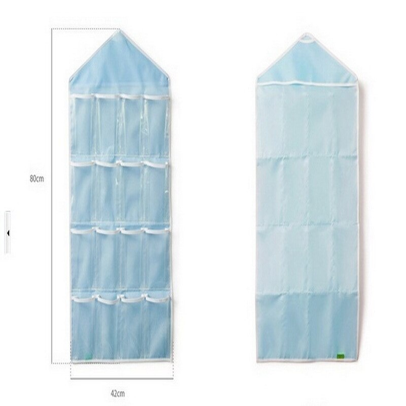 Image 5 - 16 Pockets Clear Hanging Bag Socks Bra Underwear Rack Hanger Storage Organizer Home Door Wall Hanging Closet Sundries Bags-in Storage Bags from Home & Garden