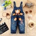 9 M-24 M Del Bebé Ropa Bebe Boy Trajes Oso Pantalones Largos de Dibujos Animados Kwaii Mono Denim Jeans Mamelucos Ropa del niño