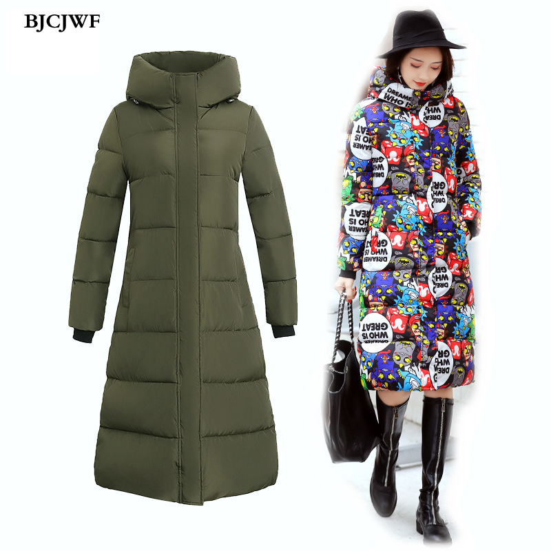 Winter jackets women hooded Plus size Parkas many colors Female Long Coat Fashion Thicken Cotton Wadded Jacket Overcoat manteau 2017 winter hooded jacket women cotton wadded overcoat medium long slim casual fashion parkas xxxl manteau femme coat