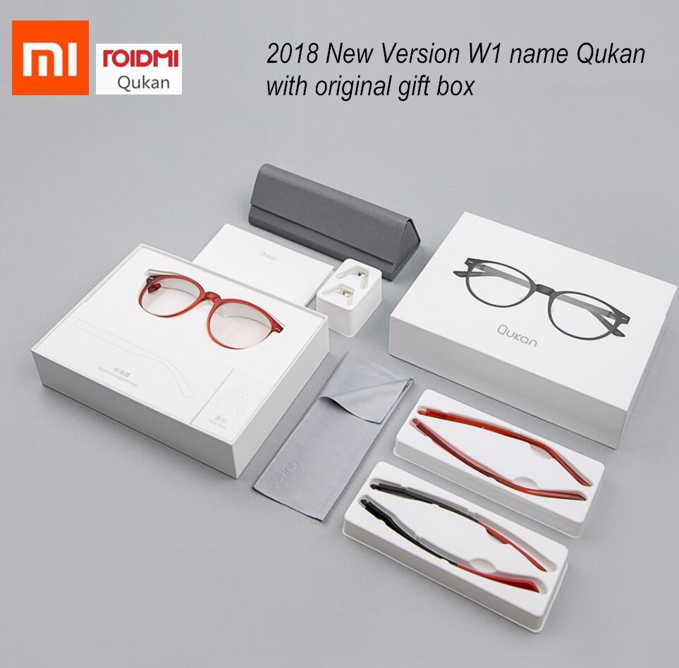 Xiaomi ROIDMI W1 Anti-blue-rays Photochromic Protective Glasses QUKAN Ear-stem Detachable Eye Protector Eyes Glasses in gift box