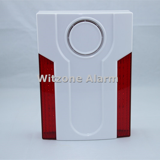 433MHz Outdoor Flash Siren MD-334R External Sirene Flash Horn with Builit-in Battery for ST-VGT, ST-IIIB, ST-V Home Alarm System free shipping 433mhz 868mhz wireless vibration sensor shock detector works with st iiib and st vgt alarm system