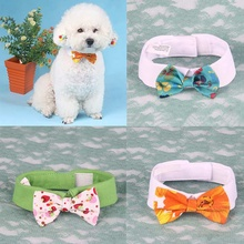 Cute Printed Pet Bow Tie Pet Tethered Floral Bow Dogs Bow Tie Collar Holiday Chr